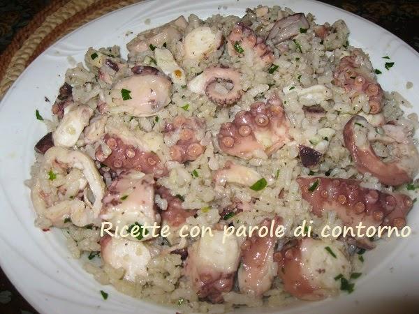insalata di riso con il polpo
