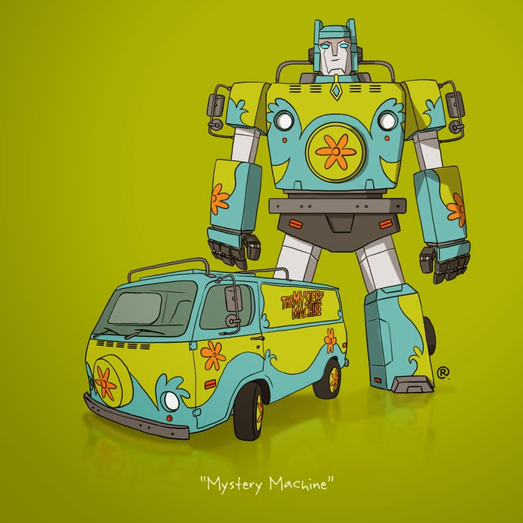 Scooby Doo Transformer Rawlsy Mystery Machine