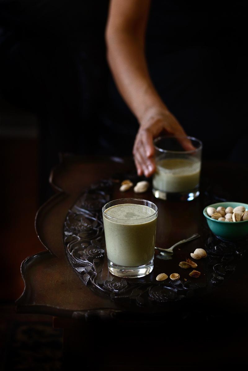 Liquid paan, paan milkshake, paan in shot glasses, paan, Indian milkshake, Food photography, Simi Jois photography