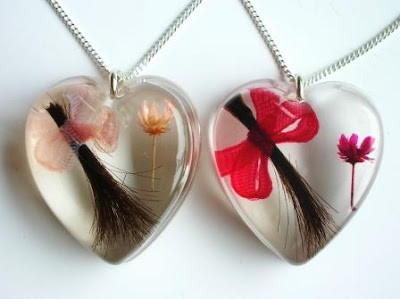 Lock of hair keepsake jewellery