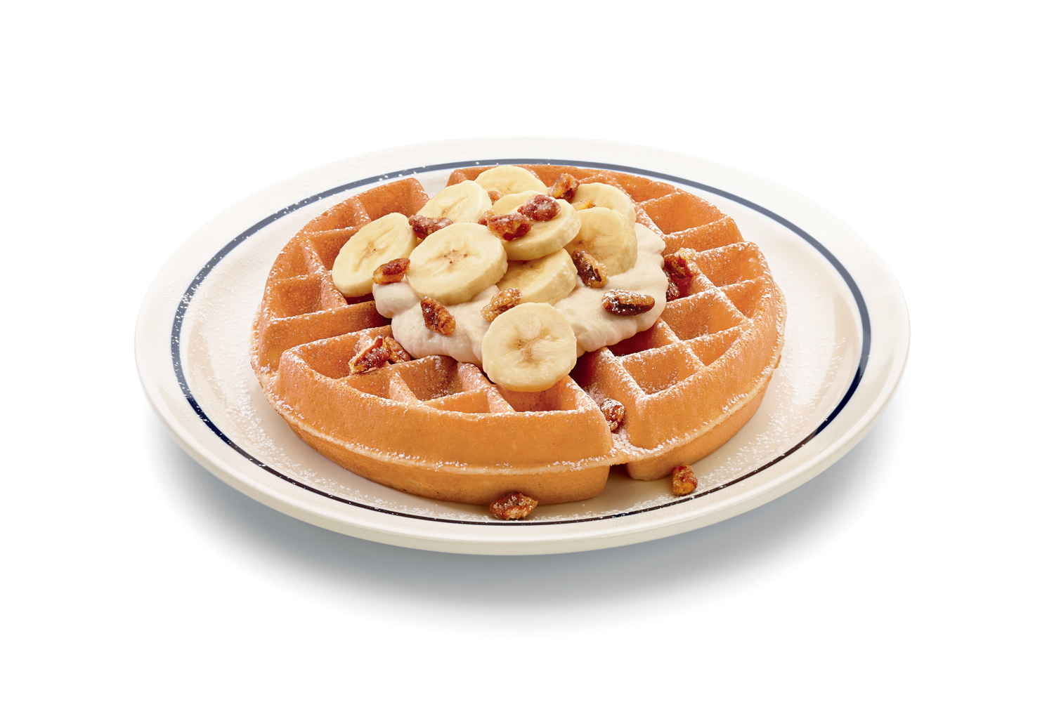 Cream Belgian Waffle - A traditional thick and crispy Belgian waffle ...