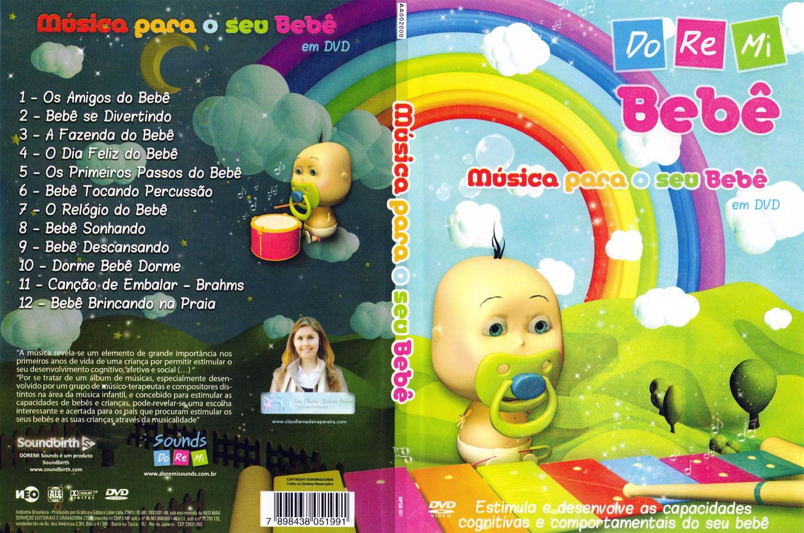 Capa DVD Músicas Para O Seu Bebê