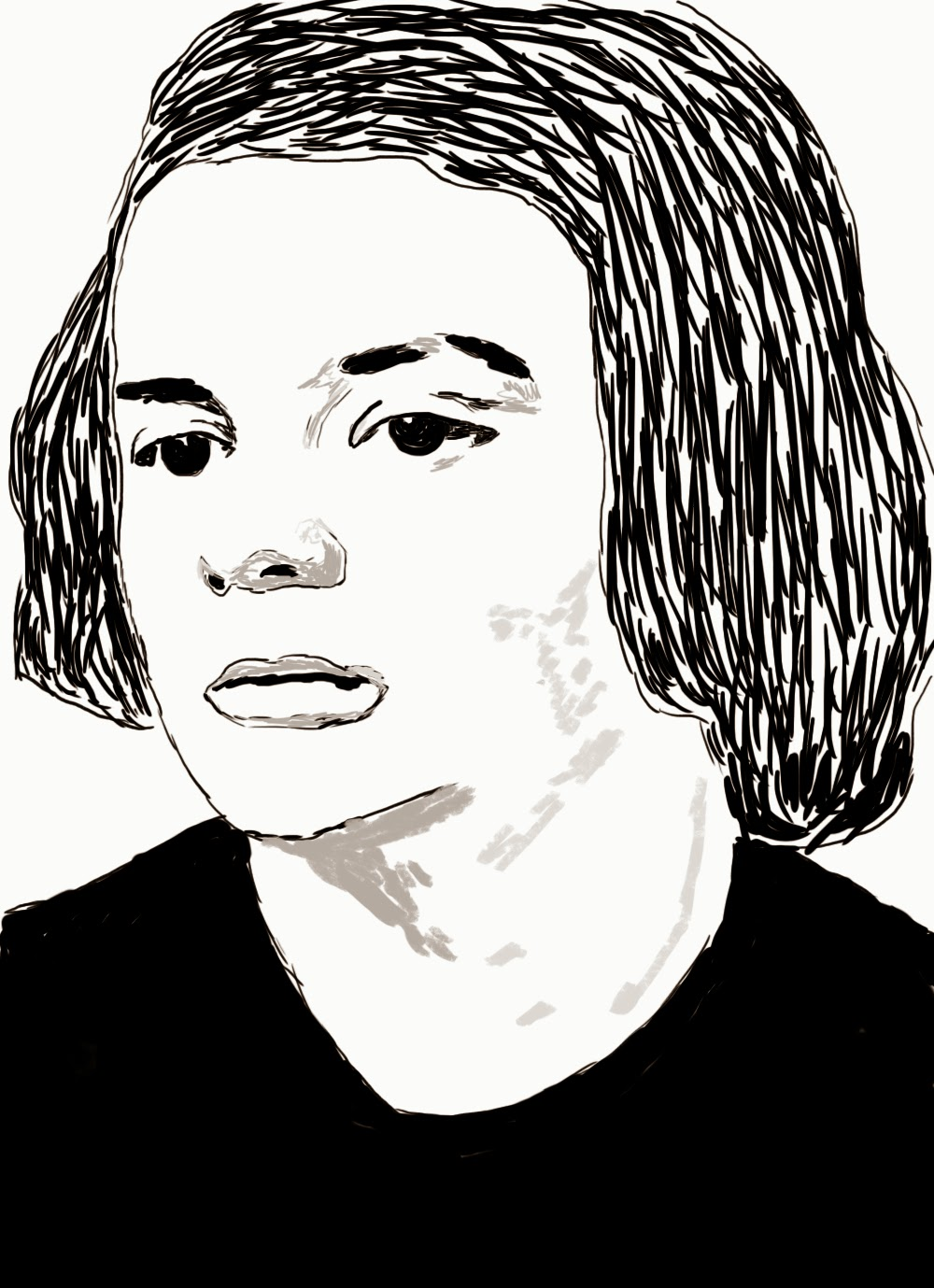 Sophie Scholl, digital painting, p. killert