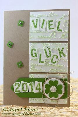Stanze Kleines Herz; Silvesterkarte; Leinenfaden; Sketch Alphabet & Numbers; Gorgeous Grunge; Apfelgrün; Match The Sketch; Stampin' Up; Stempel-biene; Scrapbooking; Scrapbook; stampin' up; Stampin' up recklinghausen; Workshops; www.stempel-biene.com; Stempel-biene Recklinghausen;