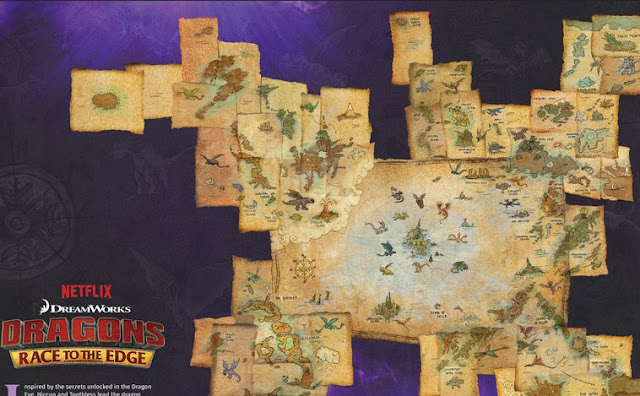 Netflix #Dragons Race to the Edge Map  #streamteam