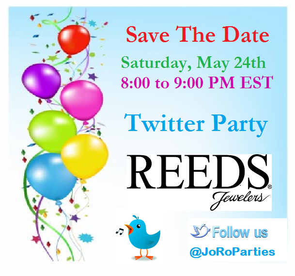 ‪#‎ReedsJewelers‬ Twitter Party, 5/24 8-9 pm