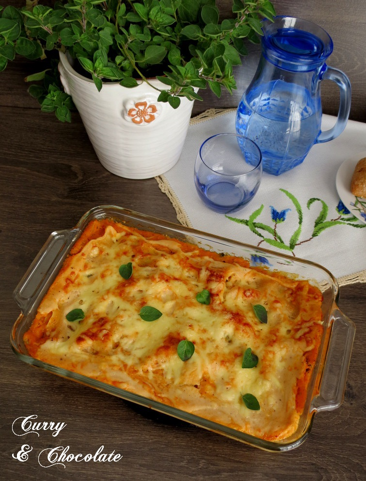 Lasaña vegetariana de espinacas y queso - Vegetarian spinach and cheese lasagna