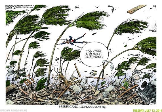 obama and headwinds cartoons