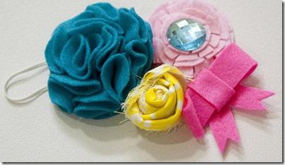 Como hacer manualidades y reciclar un poco: Cintillo con flores de ...