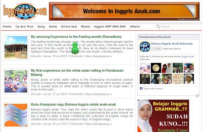 Template baru Bahasa Inggris anak Indonesia