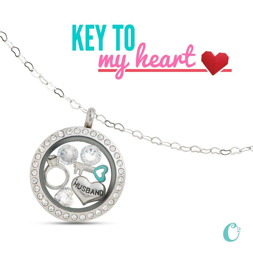 Key to Your Heart Origami Owl Loving Locket | Shop StoriedCharms.com