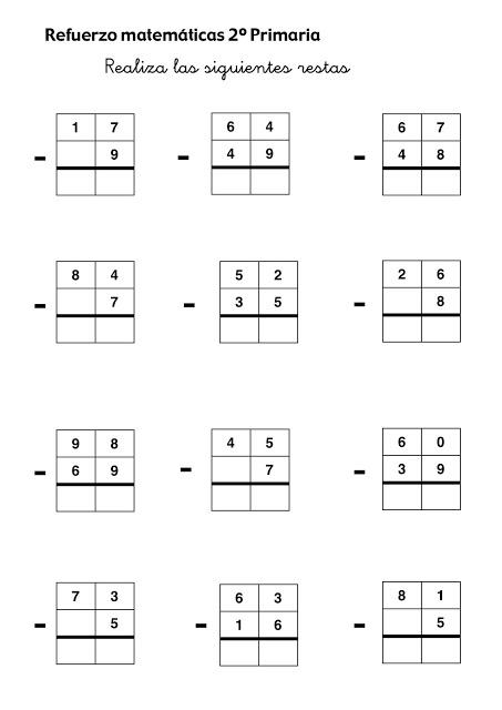 Ejercicios de matematicas de primer grado - Imagui