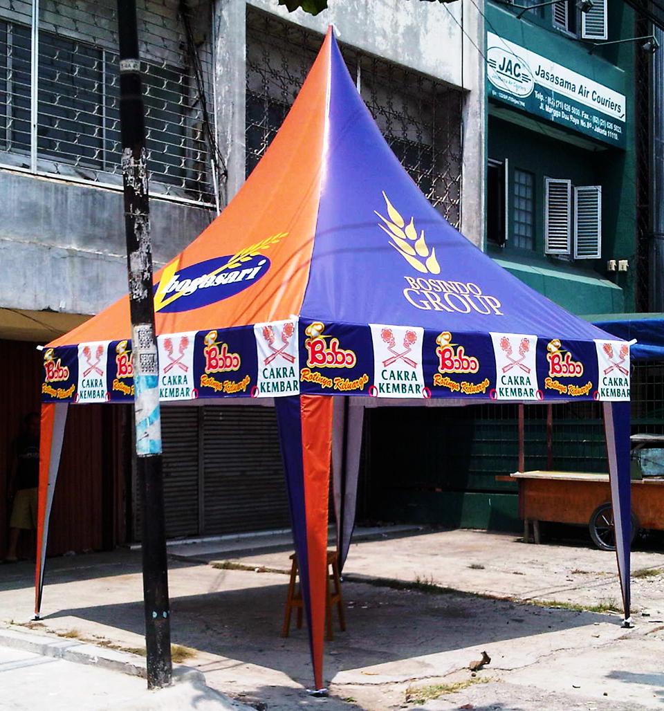 Tenda Kerucut untuk keperluan promosi