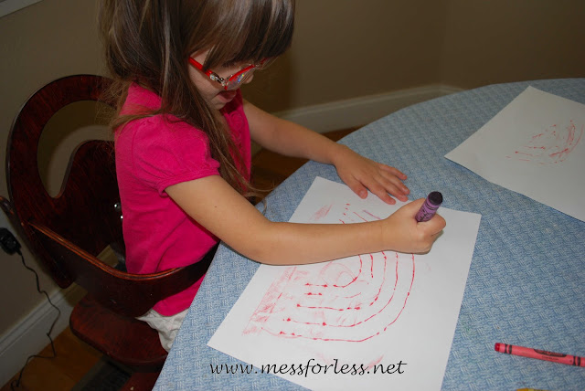 kids activity with crayons