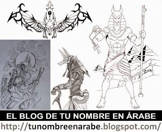 Tatuajes Anubis blanco y negro