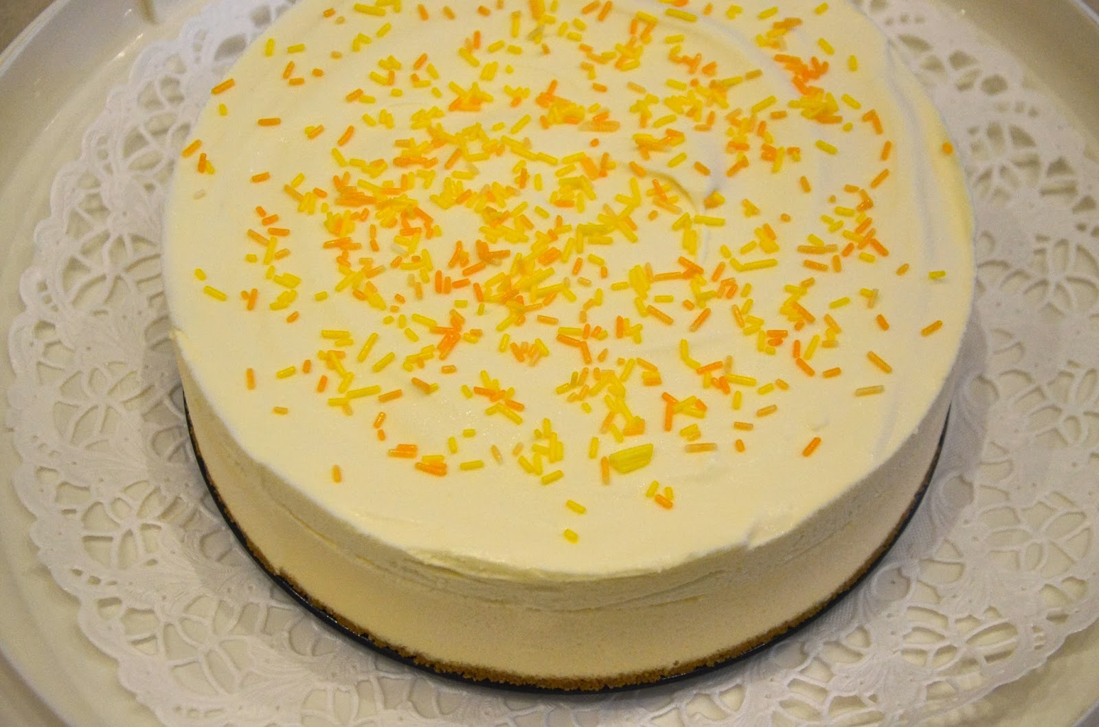 saffranscheesecake med vit choklad