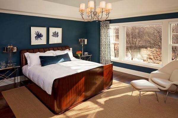 Dark Blue and Brown Bedroom Ideas