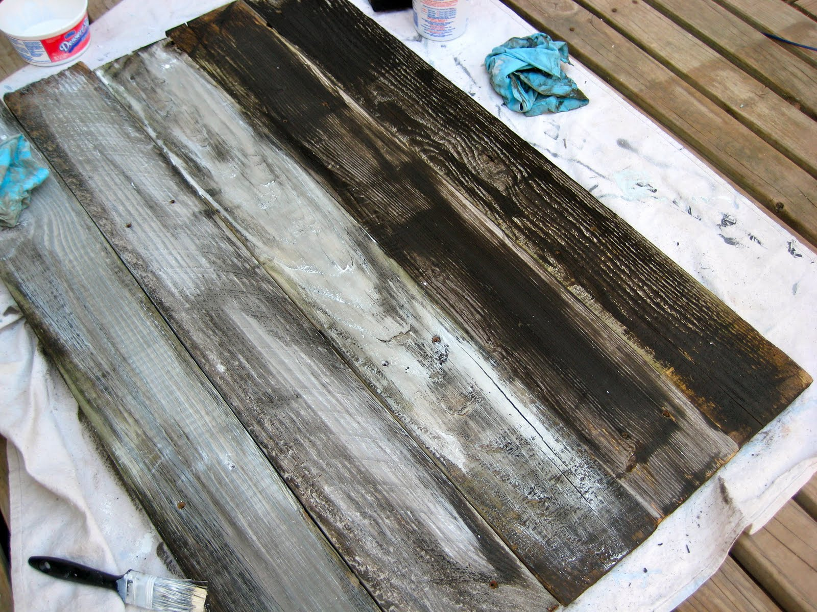 Can i stain over stain - Right After Applying The Stain I Used A Mixture Of Flat White Latex Paint And Water To Create The Whitewashed Look As You Can See In The Above Photo