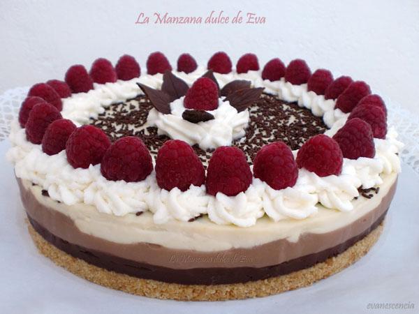 tarta tres chocolates con gotas Valor