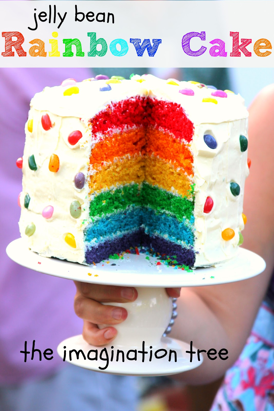 Easy To Make Cake Designs http://theimaginationtree.com/2012/09/how-to-make-rainbow-cake.html