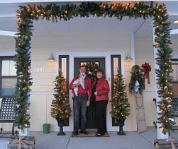 The Crossings Bed & Breakfast in Billings, Montana decorated for Christmas