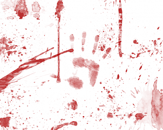 blood smeared hands