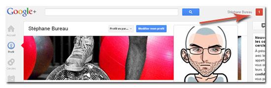 notification google+