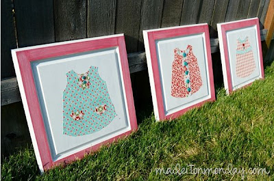 Fabric Dresses Artwork Craft Tutorial, made it on monday