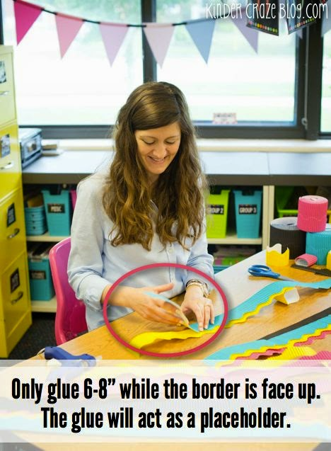 An easy way to layer multiple borders around your classroom bulletin board