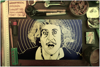 Gene Wilder Illustration