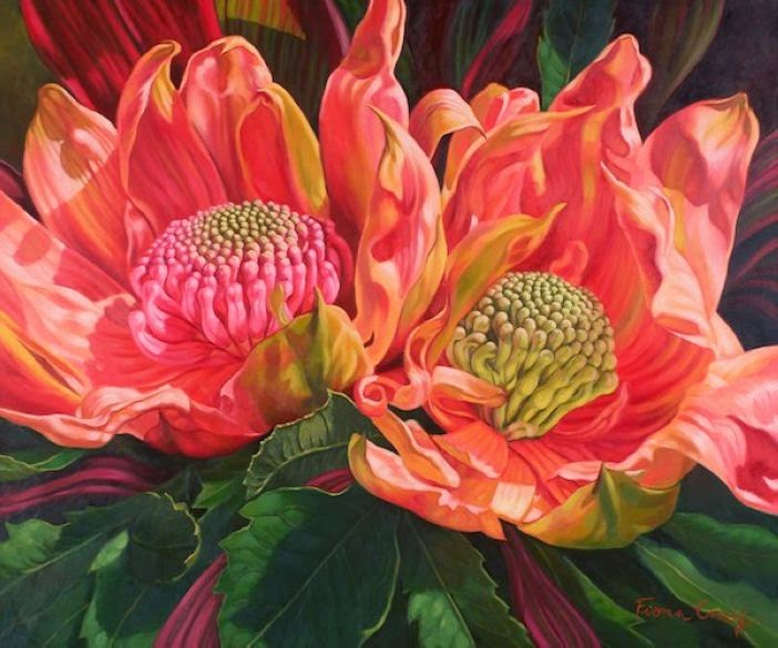 Absolutely Brilliant Flower Paintings by Fiona Craig