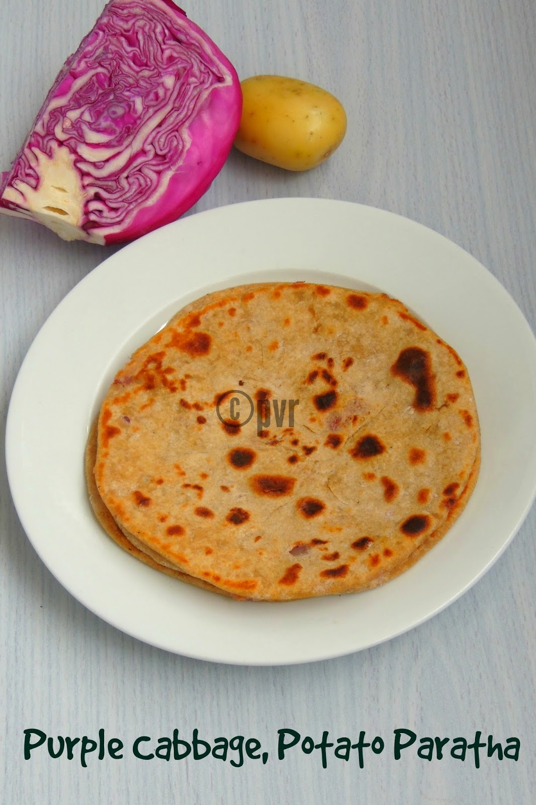 Cabbage,Potato Paratha