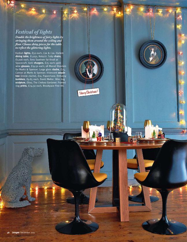ebédlő asztal dekoráció