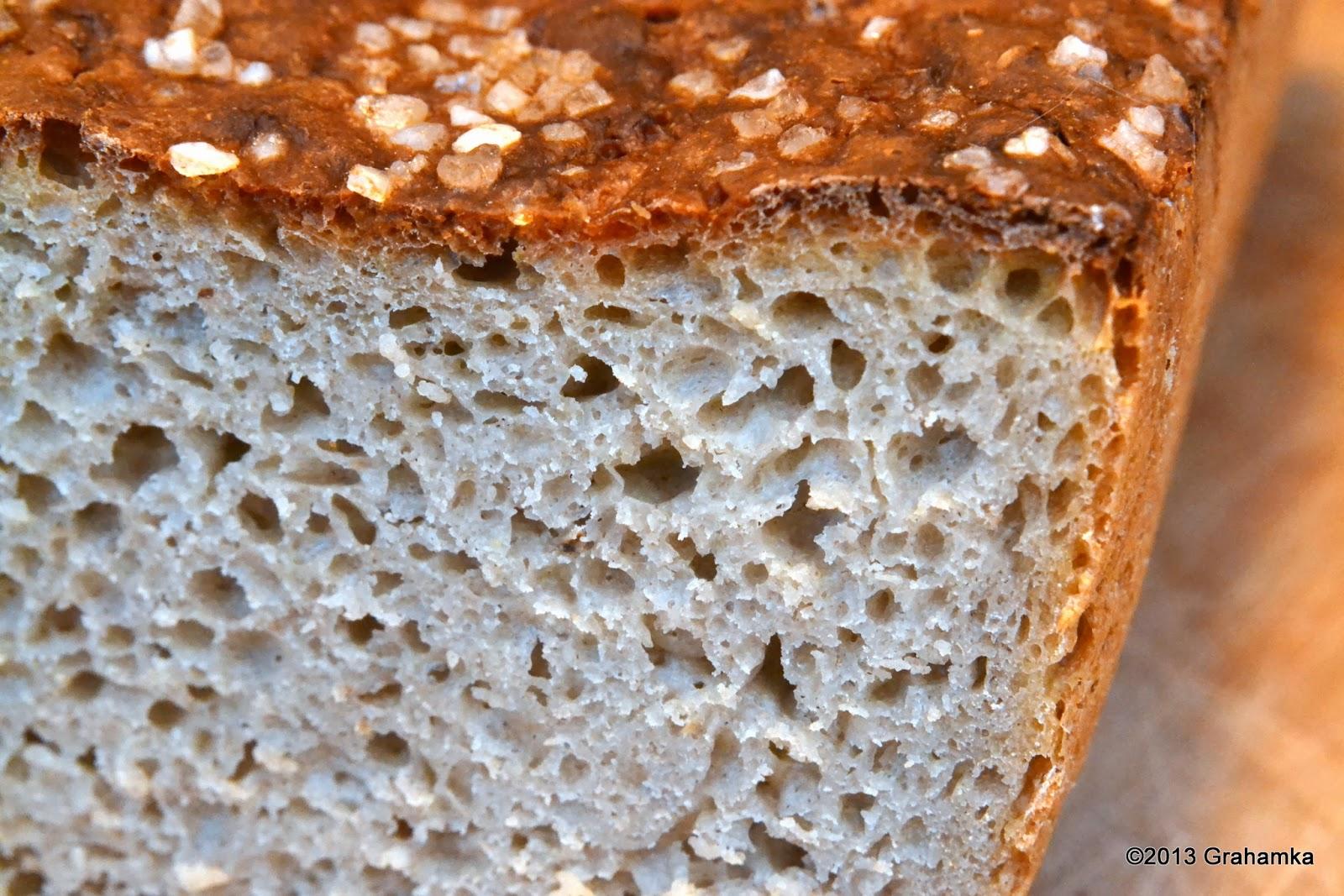Chleb żytni, łatwy i szybki, z bliska.