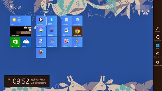 Interface do Windows 8 - 640x360