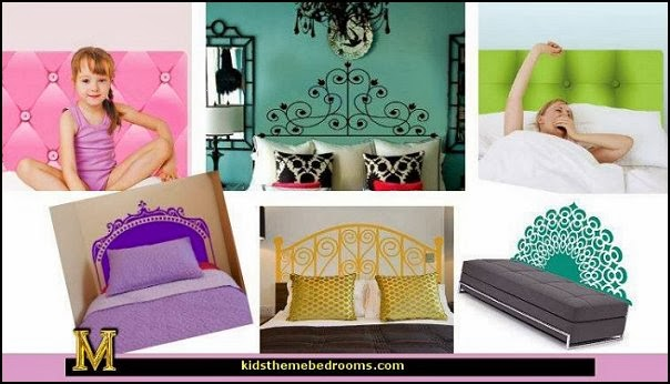 Decorating theme bedrooms maries manor funky for Mural headboard