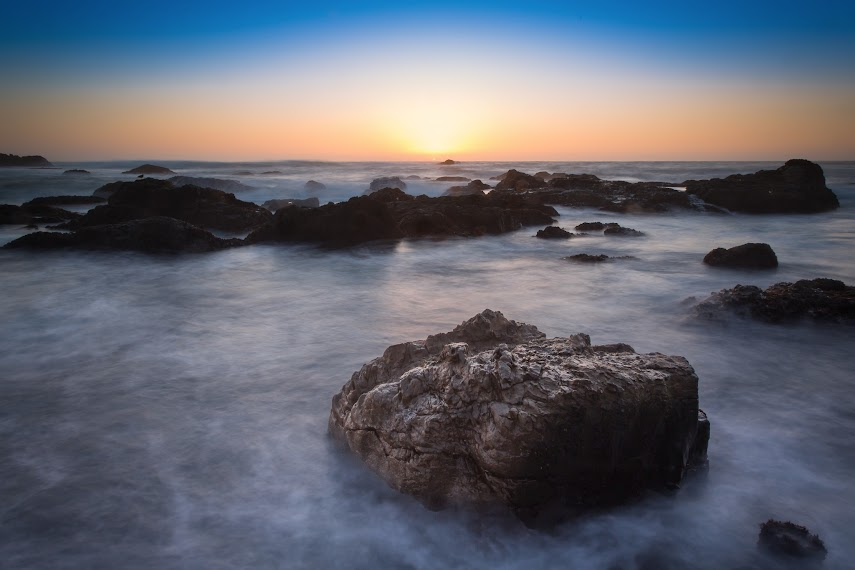 Sunset at Glass Beach, Fort Bragg, CA -- By Harpreet Grewal