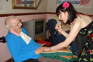 Me singing to my dad, July 2011