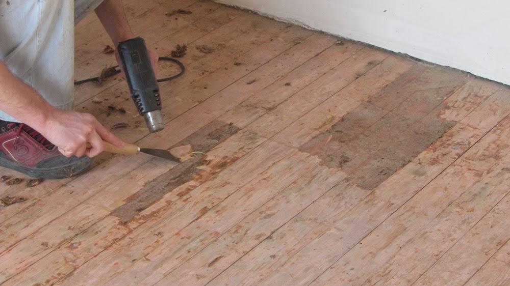 Houten Vloer Lijmen : Egalisatielaag verwijderen van plankenvloer bouwinfo