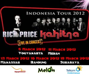 Tiket Rick Price and Kahitna Live in Concert (Indonesia Tour 2012)