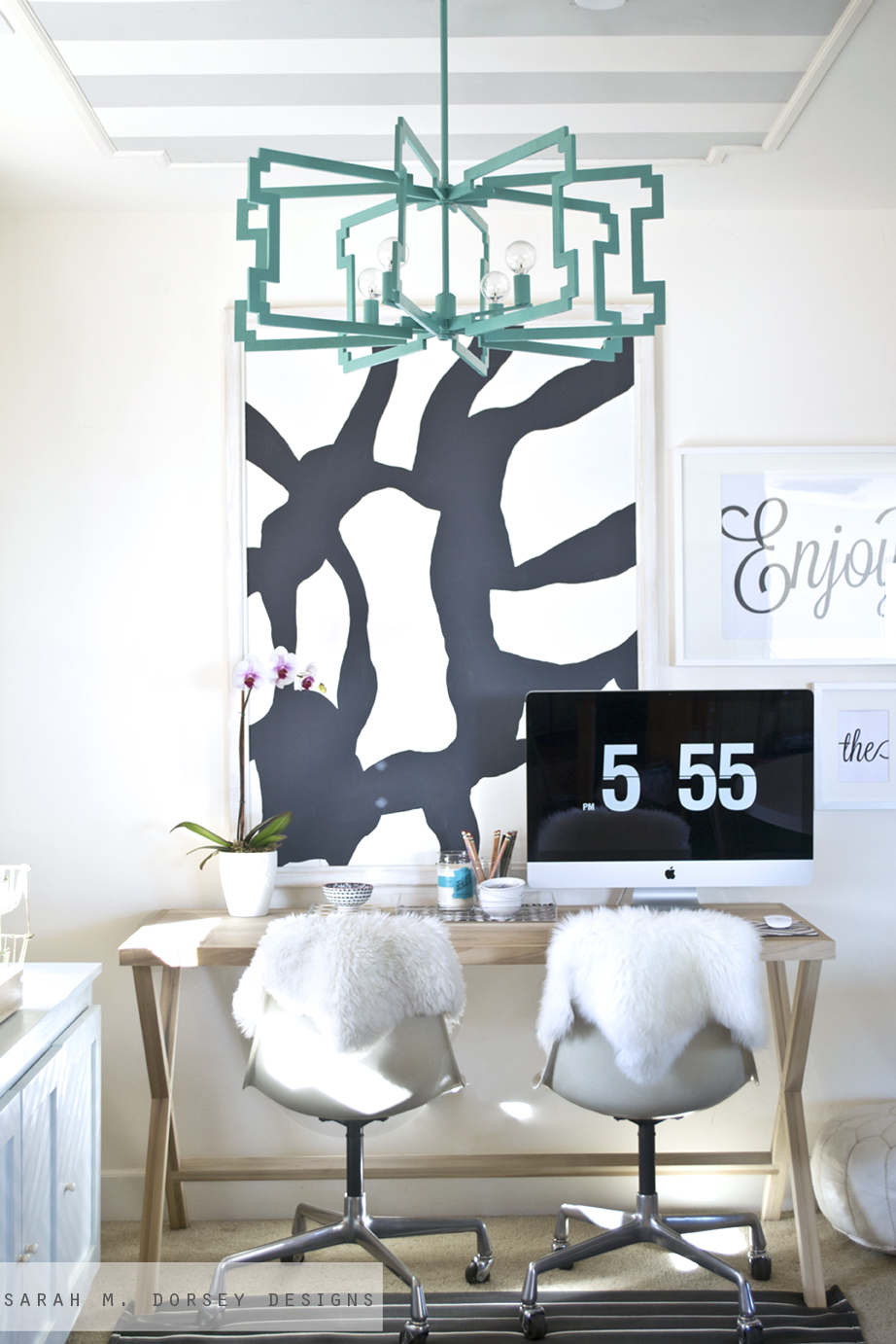 diy office art. Large Black And White Abstract Art For The Office Diy