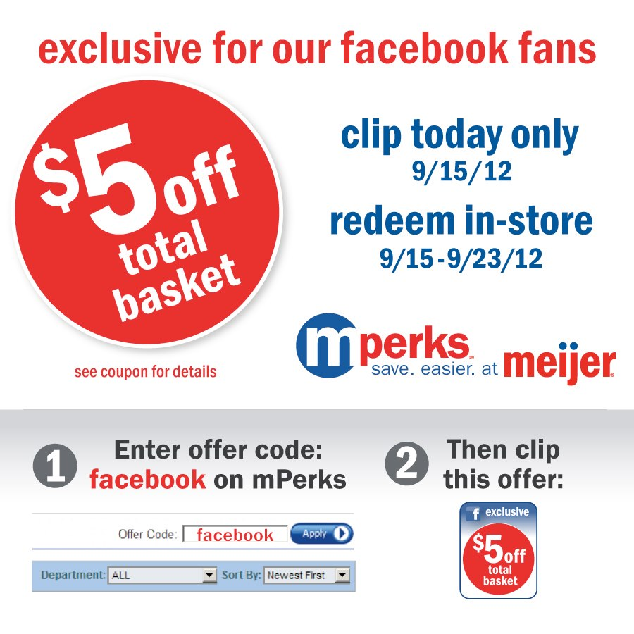savvy spending meijer free 5 mperks coupon available now on