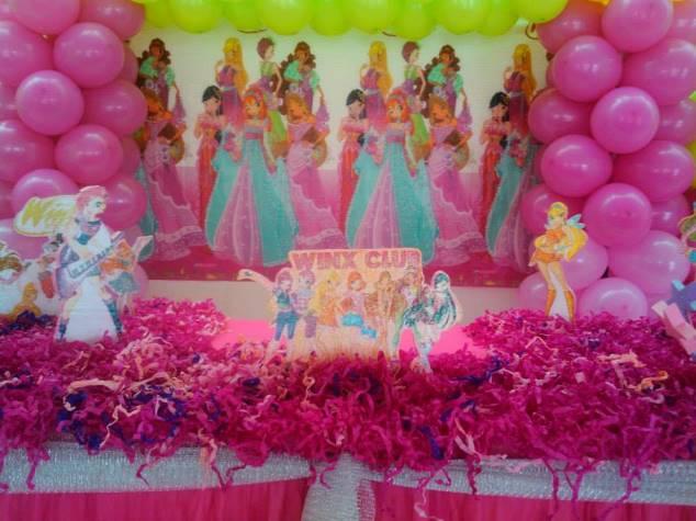 Decoração Winx ~ Decorações de Festas e Organizaç u00e3o de Eventos Decoraç u00e3o Winx Batizado Bruna