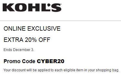 Kohl's Cyber Monday Promo Code
