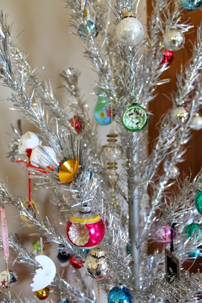 1950s vintage silver tinsel tree