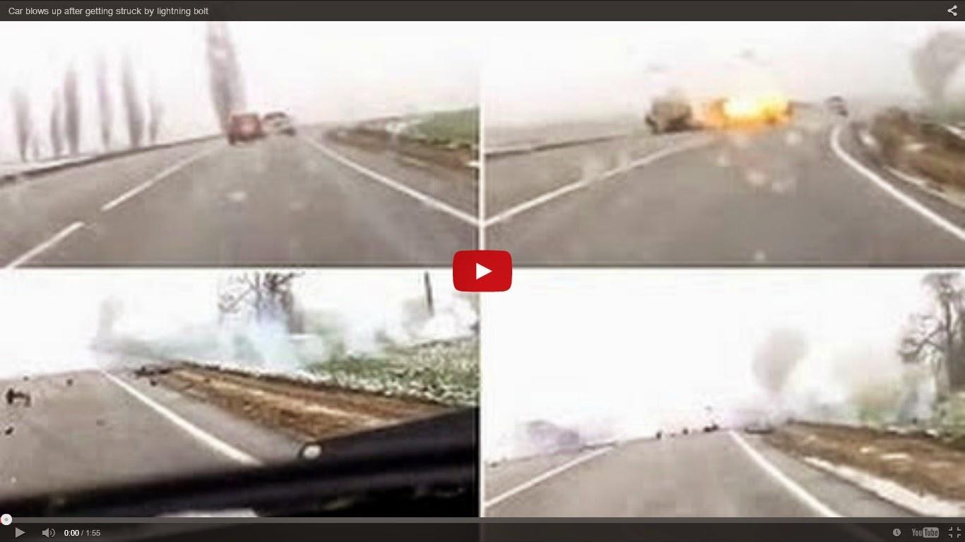 Car Struck by Lightning Car Struck by Lightning Bolt