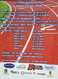 """1 er. Evento Atlético de pista """"Atlético Estrada-Mon"""""""