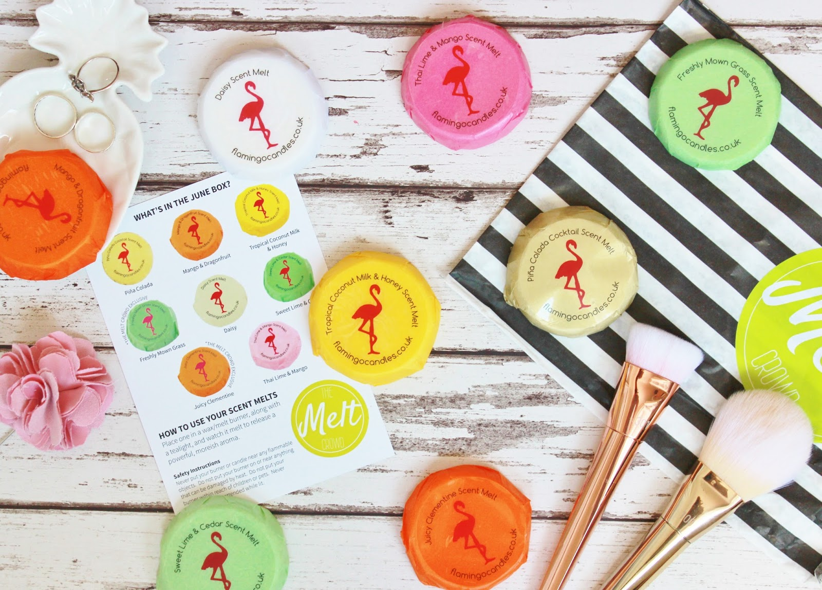 Flamingo Candles Melt Crowd June Subscription box