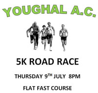 Flat Fast 5k in Youghal...Thurs 8th July