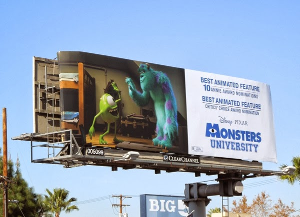 Monsters University Awards billboard